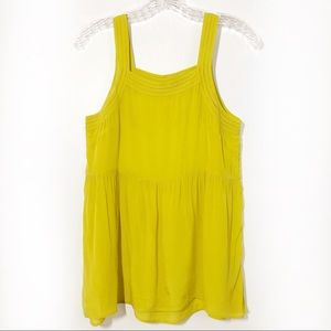Anthropologie Free People Yellow Green Boho Tank